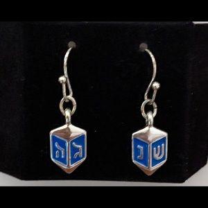 Avon Dreidel Earrings New